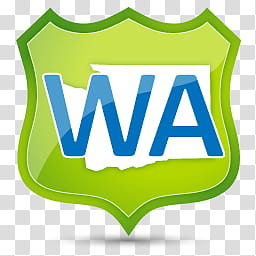 Washington logo clipart vector library library US State Icons, WASHINGTON, green and blue WA text icon ... vector library library