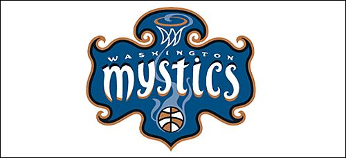 Washington mystics clipart picture black and white stock Washington Mystics - Vital Statistics   --- SPORTS COAST TO ... picture black and white stock