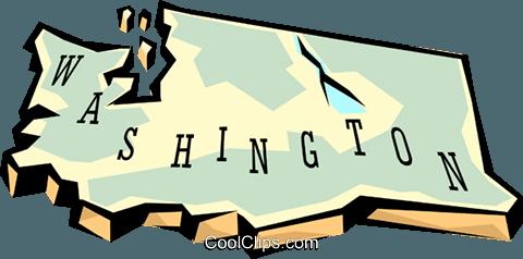 Washington state clipart vector clip freeuse Washington state map Royalty Free Vector Clip Art ... clip freeuse