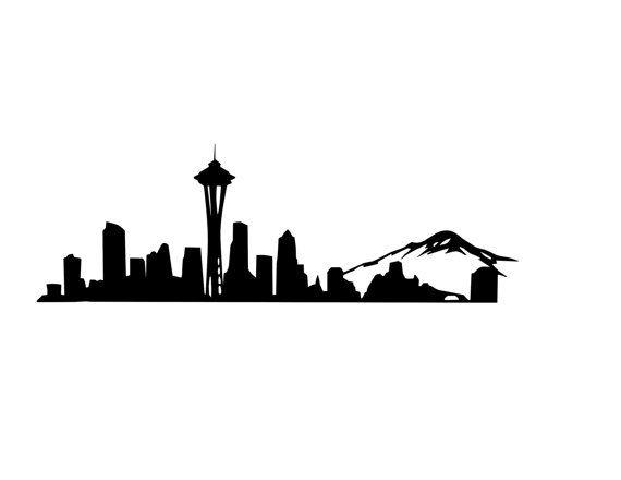 Washington state code backgorund clipart clip art freeuse download Seattle Skyline Decal Seattle Decal Space Needle | Coby ... clip art freeuse download