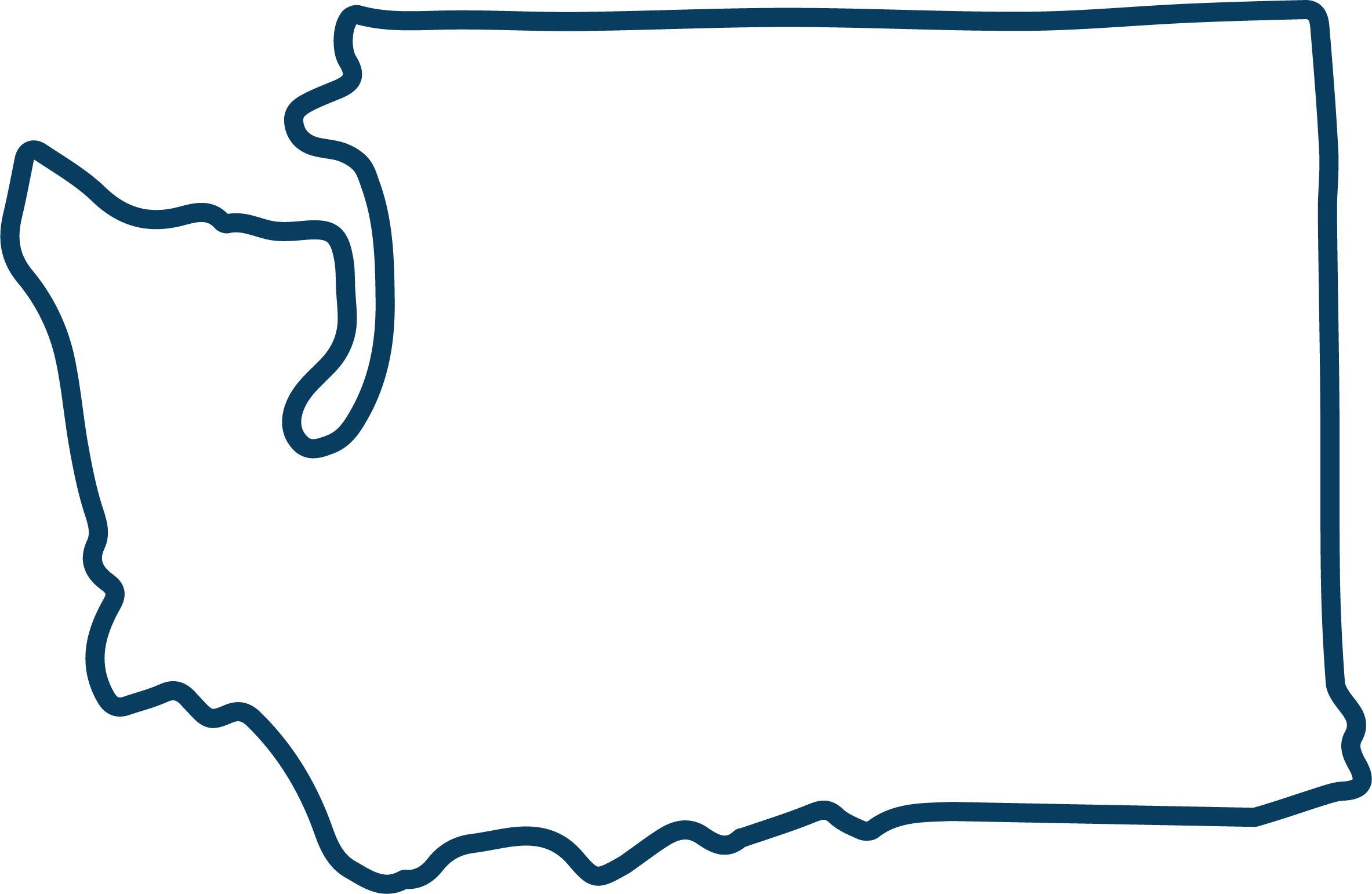Washington state code backgorund clipart vector royalty free Washington State Outline Blue2 Clipart - Full Size Clipart ... vector royalty free