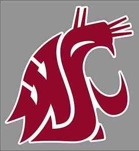 Washington state cougars clipart jpg black and white Details about Washington State University Cougars 6\