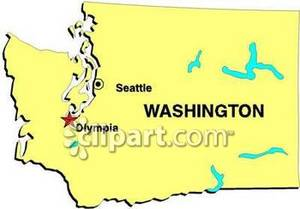 Washington state map clipart png library download Map of Washington and Its Major Cities - Royalty Free ... png library download
