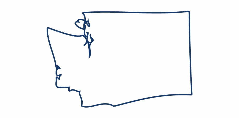 Washington state outline clipart free clip art black and white Washington - Line Art Free PNG Images & Clipart Download ... clip art black and white