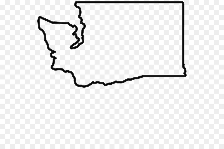 Washington state outline clipart free banner black and white download Hand Outline clipart - White, Black, Text, transparent clip art banner black and white download