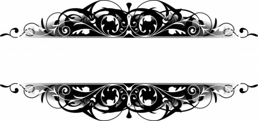 Washout flourish scroll clipart banner transparent download 86+ Scroll Clipart Border   ClipartLook banner transparent download