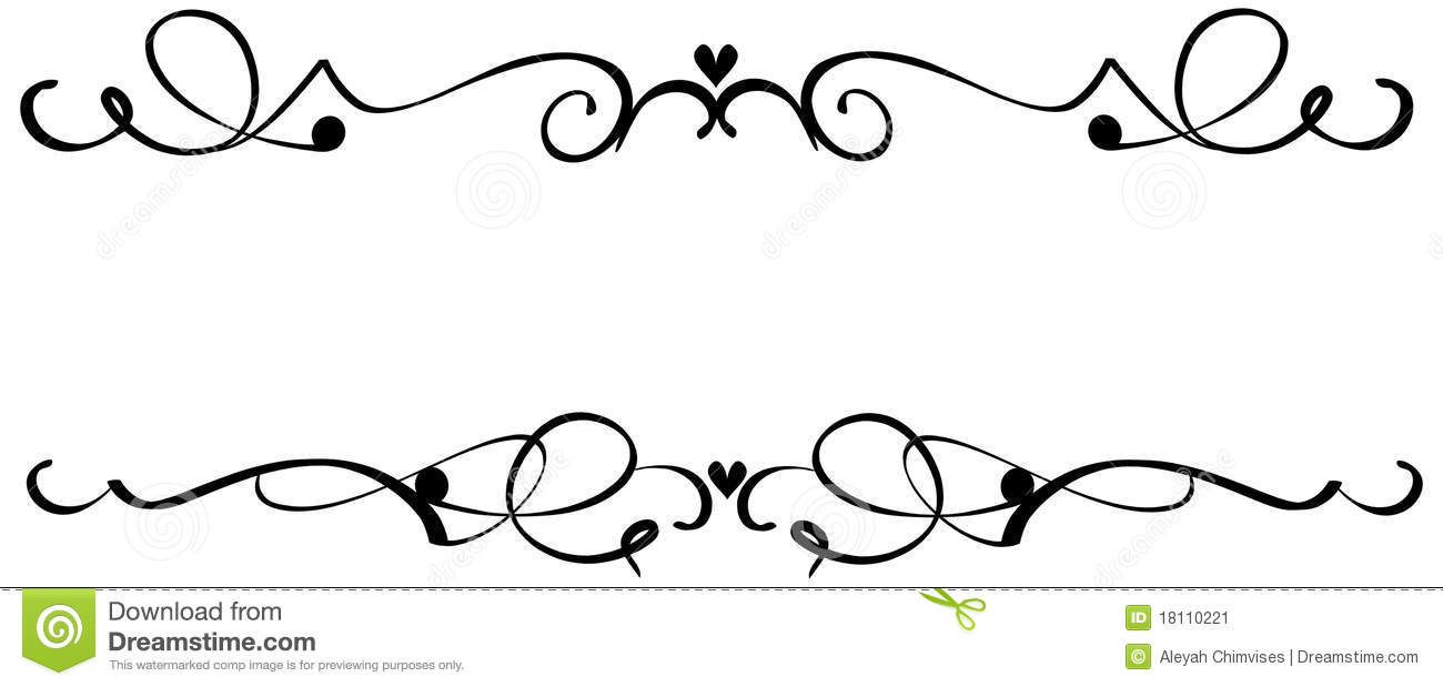 Washout flourish scroll clipart svg royalty free Fancy Scroll Clip Art & Look At Clip Art Images - ClipartLook svg royalty free