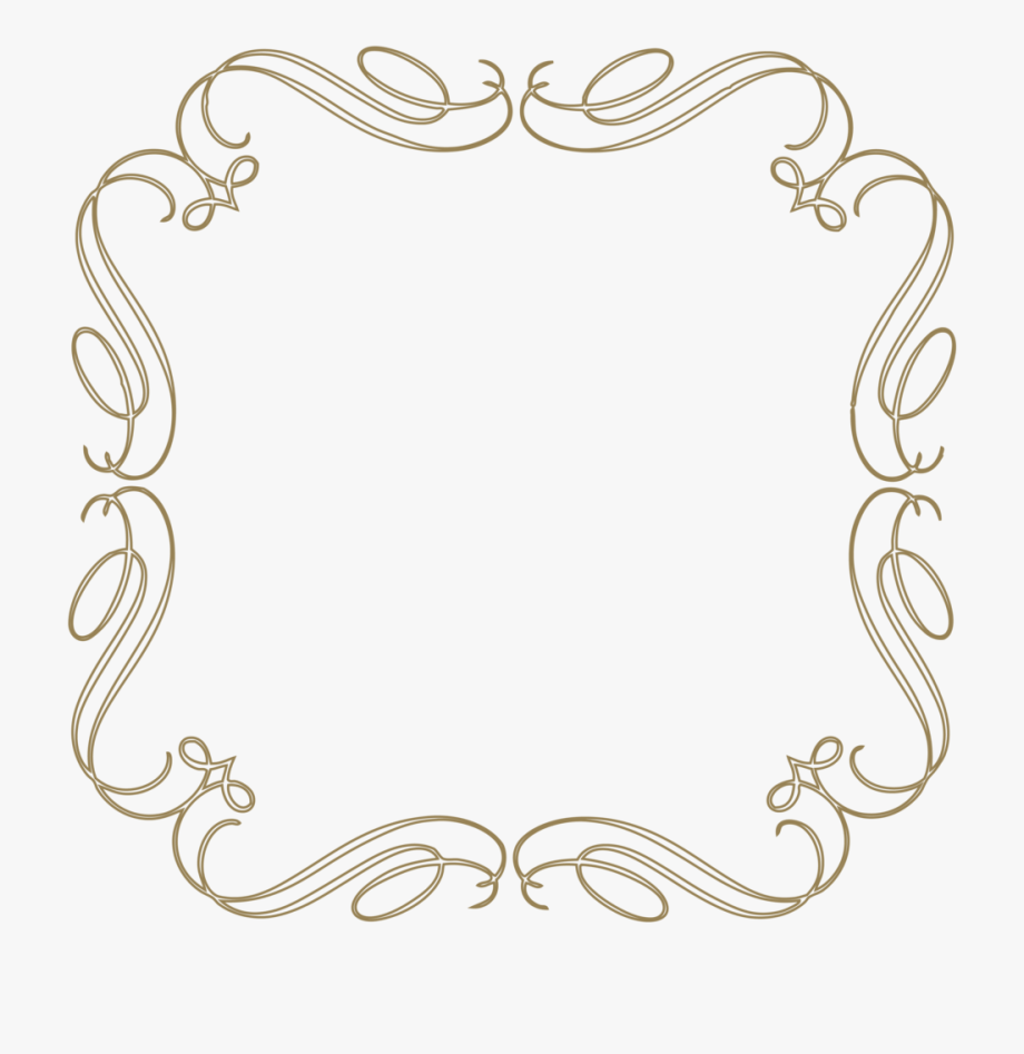 Washout flourish scroll clipart library Vintage Scroll Border - Vintage Scroll Clipart Frame #578428 ... library
