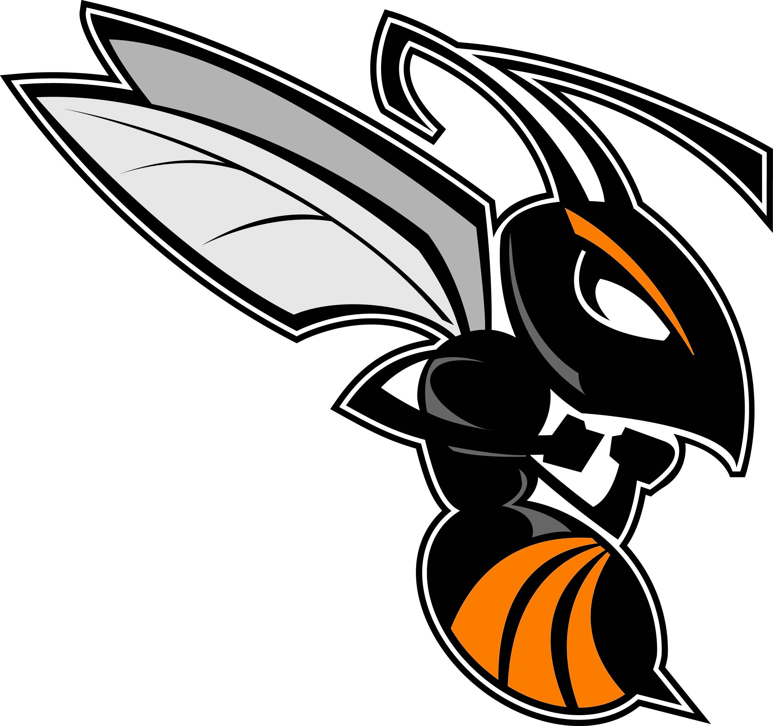 Wasps clipart emblem image black and white stock Hornet logo clipart - WikiClipArt image black and white stock