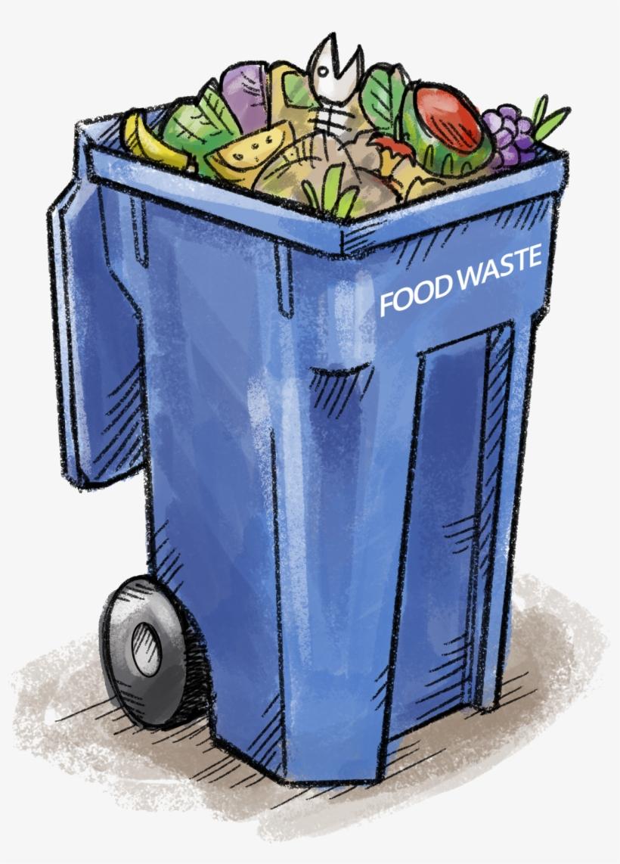 Waste bin clipart graphic transparent stock Food Waste Bin - Food Waste Bin Clipart Transparent PNG ... graphic transparent stock