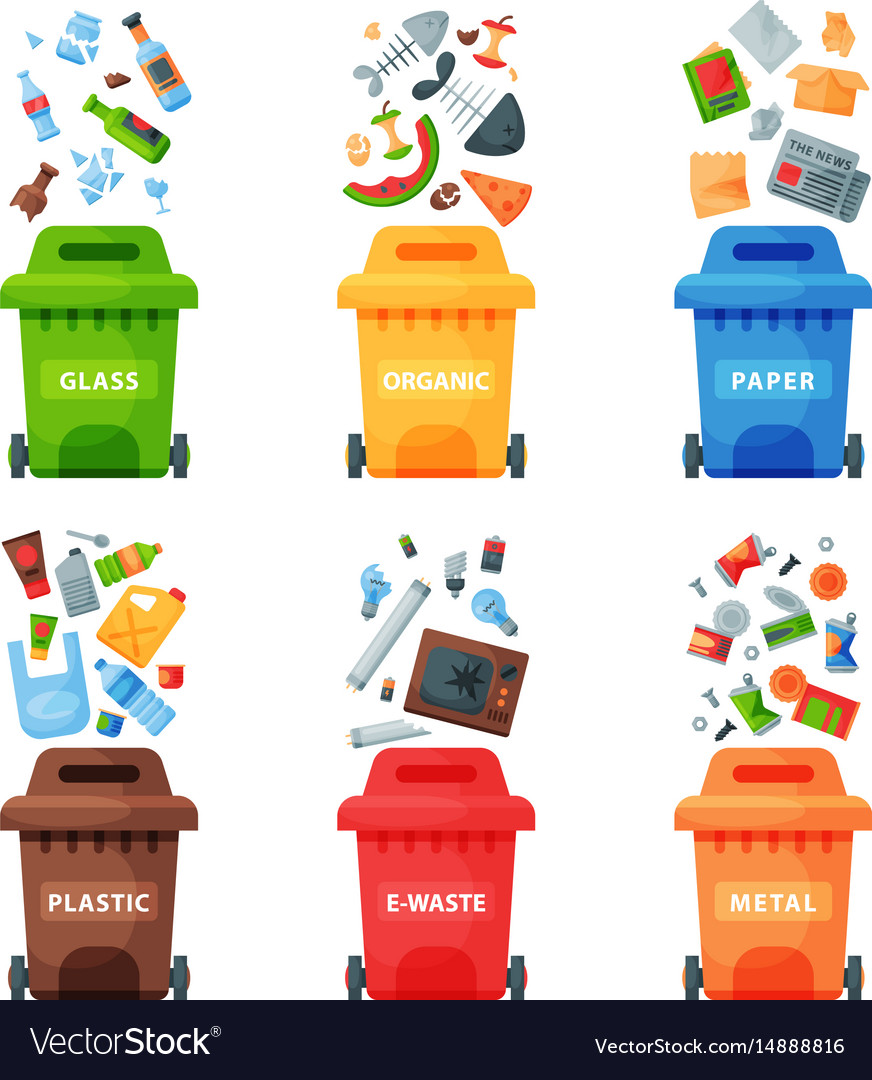 Waste management clipart free download Waste management concept segregation separation download