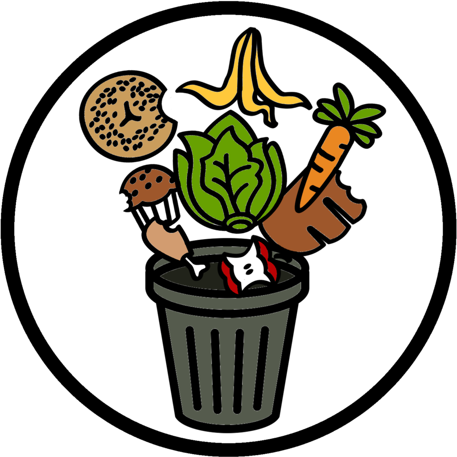 Wasted food clipart vector royalty free download Food Waste Bin Cartoon , Transparent Cartoon - Jing.fm vector royalty free download