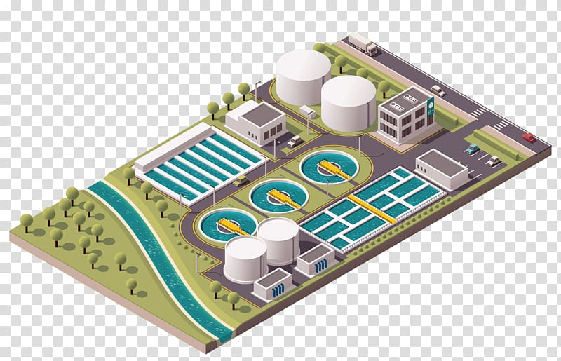 Wastewater treatment clipart vector black and white stock Sewage treatment Water treatment Wastewater Industry, 3d ... vector black and white stock