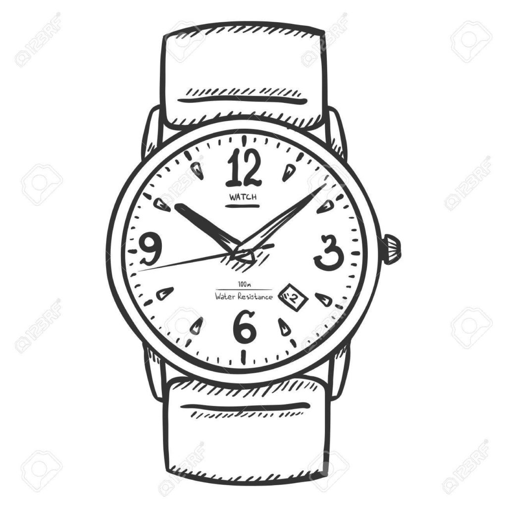 Watch black and white clipart png library Clipart Of Watch | Clip Art png library