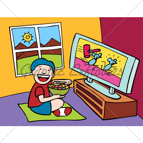 Watch cartoons clipart svg stock Pictures Of Kids Watching Tv | Free download best Pictures ... svg stock