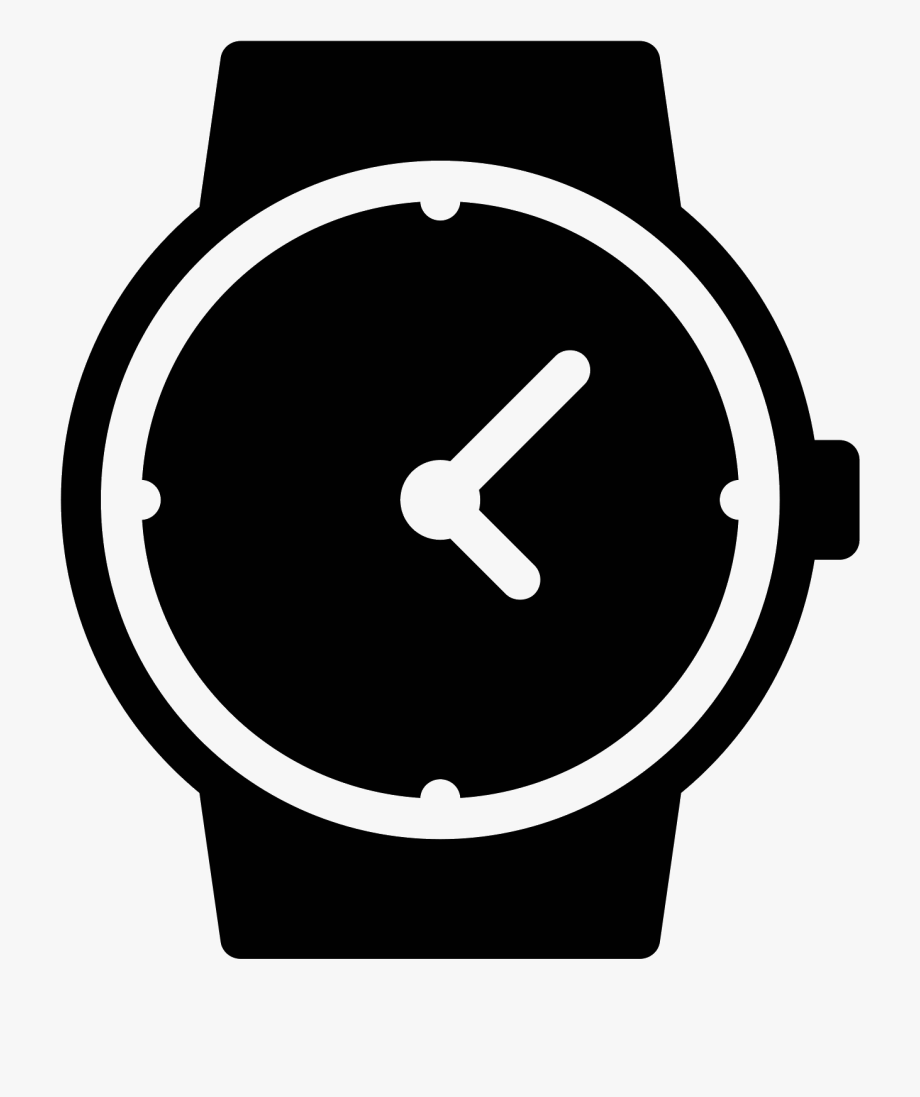 Watch icon clipart clip art library library Watches Front View Filled - Icon For Watch #301352 - Free ... clip art library library