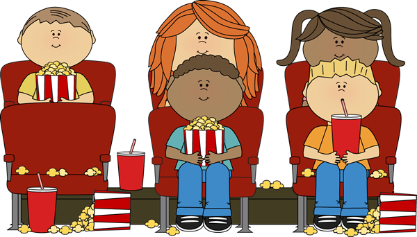 Watch a movie clipart jpg transparent library Kids watching a movie in a movie theater. | Clip Art-Movies ... jpg transparent library