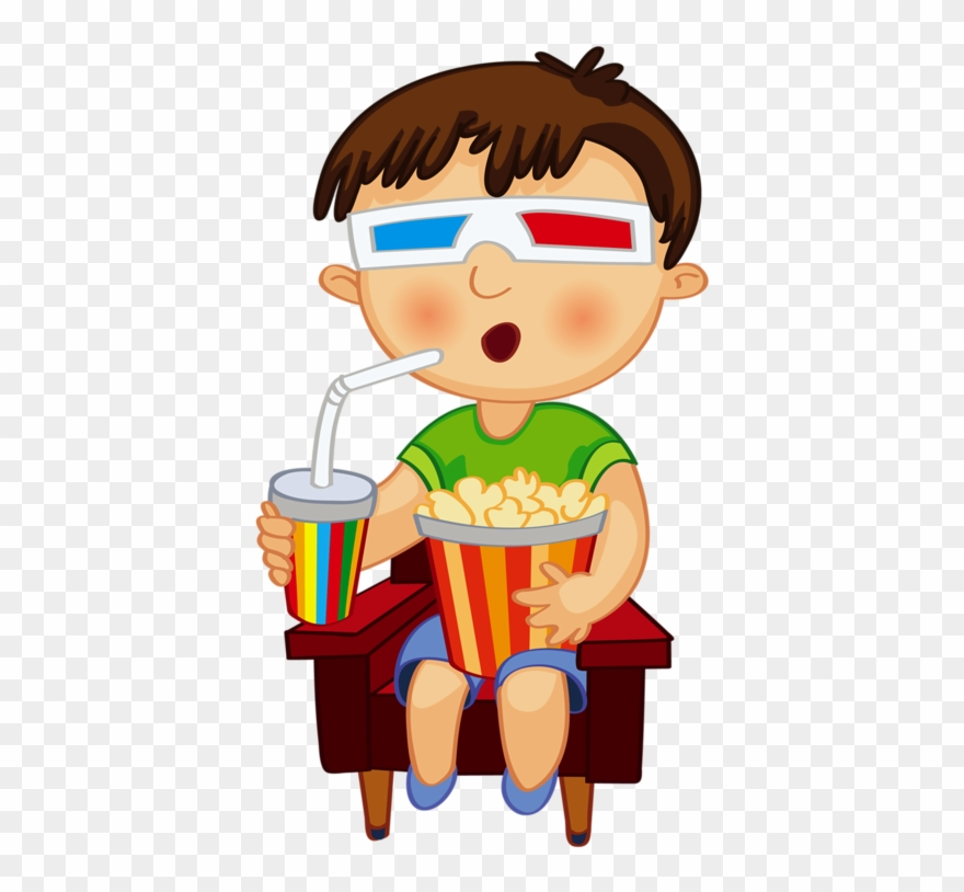 Watching clipart kid graphic freeuse library Png Free Download Clip Art Kid Watching - Boy Watching Movie ... graphic freeuse library