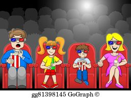 Watch movie clipart picture free stock Watching Movies Clip Art - Royalty Free - GoGraph picture free stock