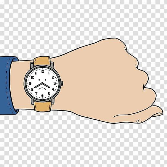 Watch on hand clipart picture free download Watch Cartoon Clock, Hand-painted watches transparent ... picture free download