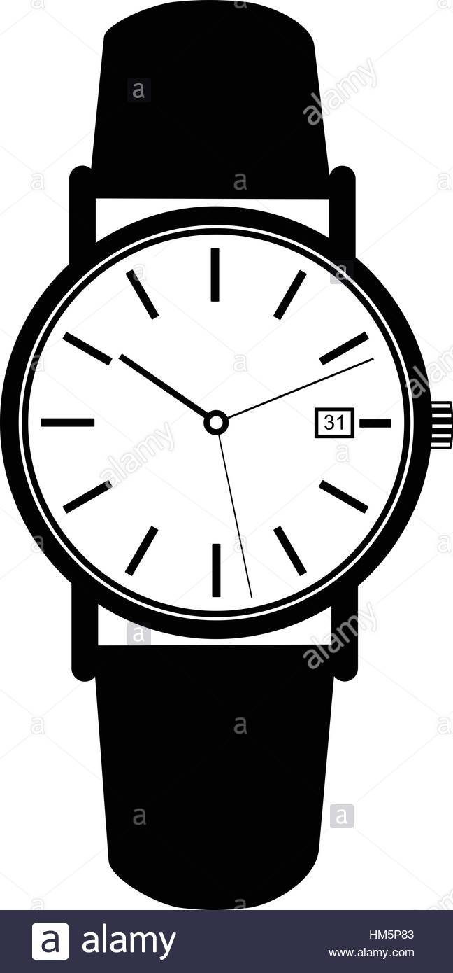 Watch on hand clipart