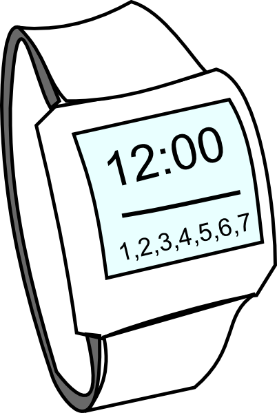 Watch on hand clipart picture free stock Hand Watch Clip Art at Clker.com - vector clip art online ... picture free stock