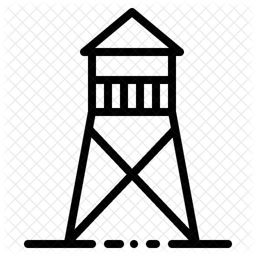 Watch tower clipart picture black and white stock Watchtower Icon - Crime & Security Icons I #68328 ... picture black and white stock