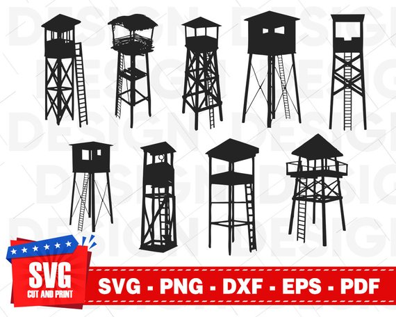 Watch tower clipart clip art royalty free library WATCHTOWER svg file, sniper tower svg, prison svg, military ... clip art royalty free library