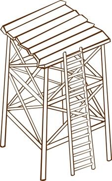 Watch tower vector clipart clip Watchtower vector free vector download (2 Free vector) for ... clip