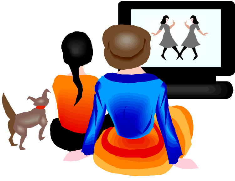 Watching football on tv clipart jpg 28+ Collection of Watching Movie At Home Clipart | High quality ... jpg
