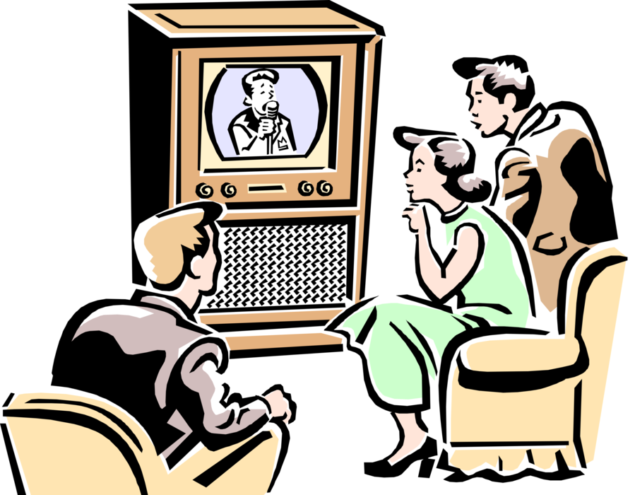 Watching television clipart melonheadz jpg black and white library HD Family Watching Tv Clipart Clipart Images Gallery For ... jpg black and white library
