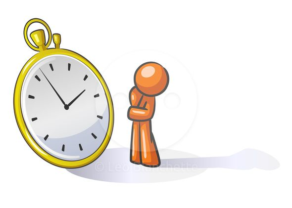 Watching time clipart banner free stock ClipArt Illustration of Orange Man Watching Time or Planning ... banner free stock