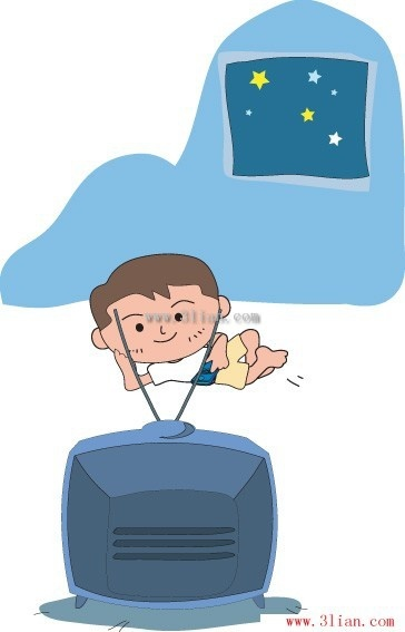 Watching tv clipart free vector picture free stock Children watching tv vector Free vector in Adobe Illustrator ... picture free stock