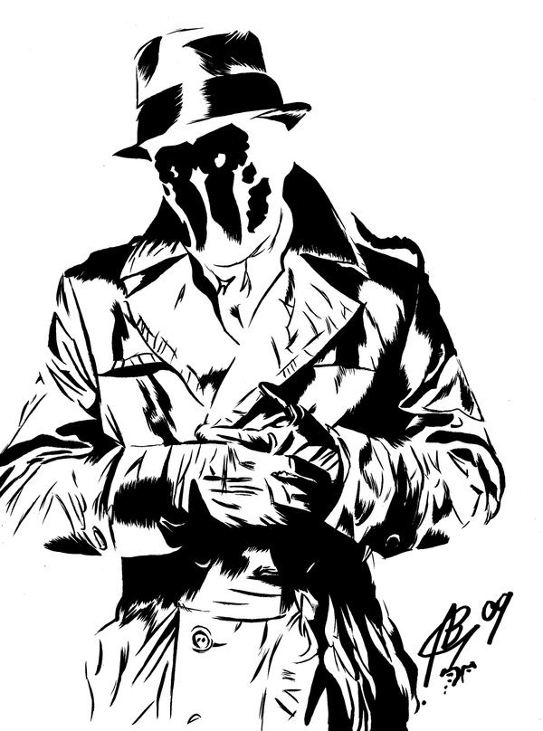 Watchmen rorschach clipart banner library download Download rorschach watchmen draw clipart Rorschach Watchmen ... banner library download