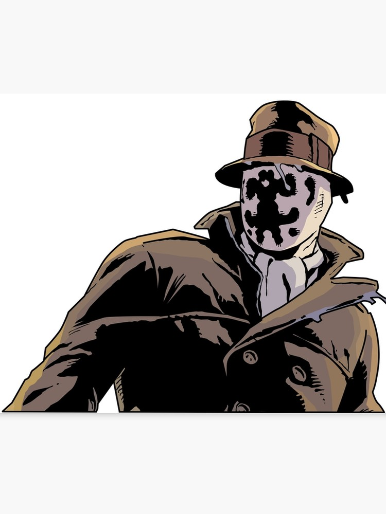 Watchmen rorschach clipart image freeuse Rorschach from Watchmen | Canvas Print image freeuse