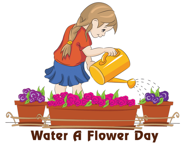 Watering money tree clipart jpg royalty free download National Water a Flower Day - May 30, 2018 | Happy Days 365 jpg royalty free download