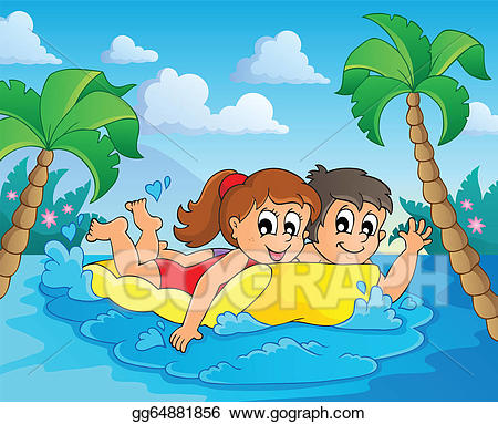 Water activity clipart picture royalty free library Vector Art - Summer water activity theme 4. Clipart Drawing ... picture royalty free library