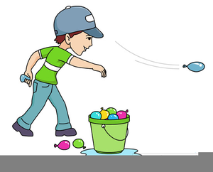 Water balloon fight clipart clip library Free Clipart Water Balloon Fight   Free Images at Clker.com ... clip library