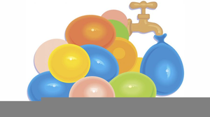 Water balloons clipart vector library download Water Balloon Toss Clipart Free   Free Images at Clker.com ... vector library download