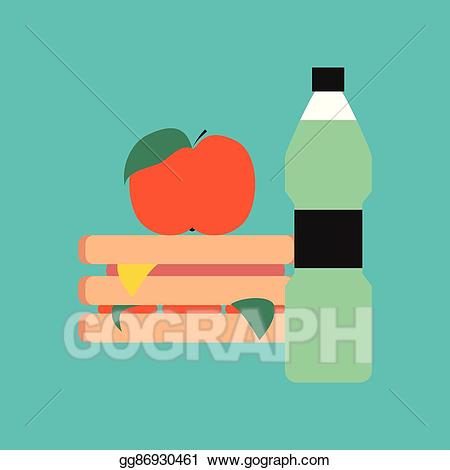 Water block background clipart jpg library stock Vector Stock - Flat icon on stylish background sandwich ... jpg library stock