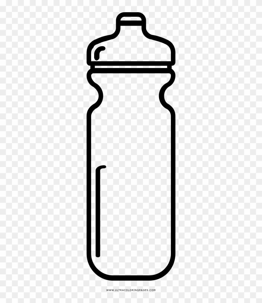 Waterbottle clipart black and white picture transparent Shaker Coloring Page - Black And White Water Bottle Coloring ... picture transparent