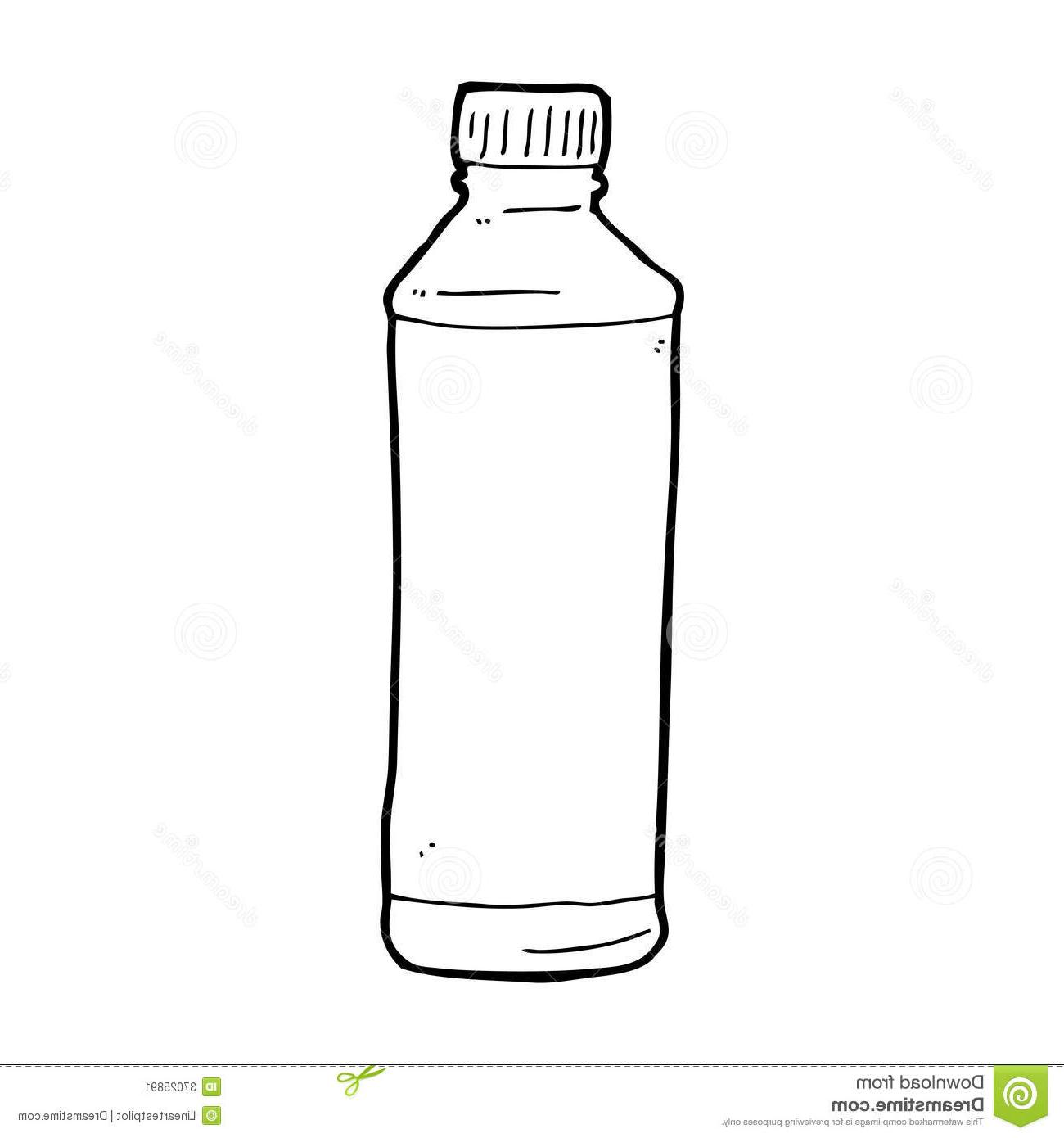 Water bottle paper clipart black and white