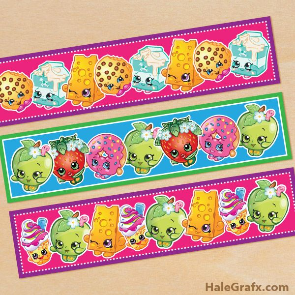 It is a graphic of Free Printable Shopkins Food Labels for bingo