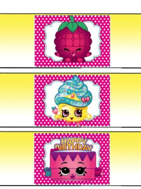 Water bottle shopkins clipart banner freeuse Free Shopkins Birthday Party Water Bottle printables | Shopkins ... banner freeuse