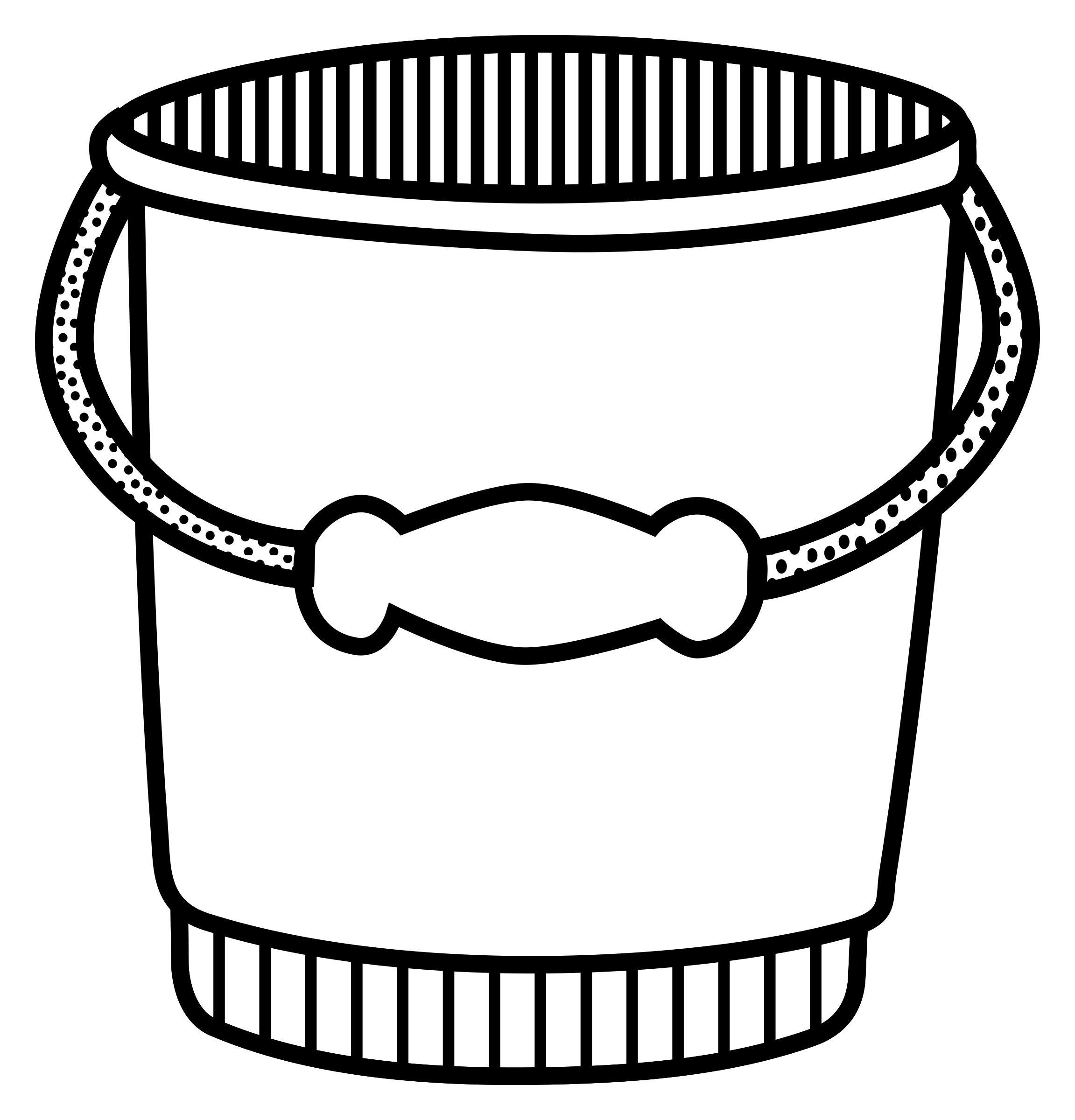 Water bucket clipart black and white graphic freeuse download Black and white clipart of water bucket - Clip Art Library graphic freeuse download