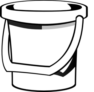 Water bucket clipart black and white picture transparent download Free White Bucket Cliparts, Download Free Clip Art, Free ... picture transparent download