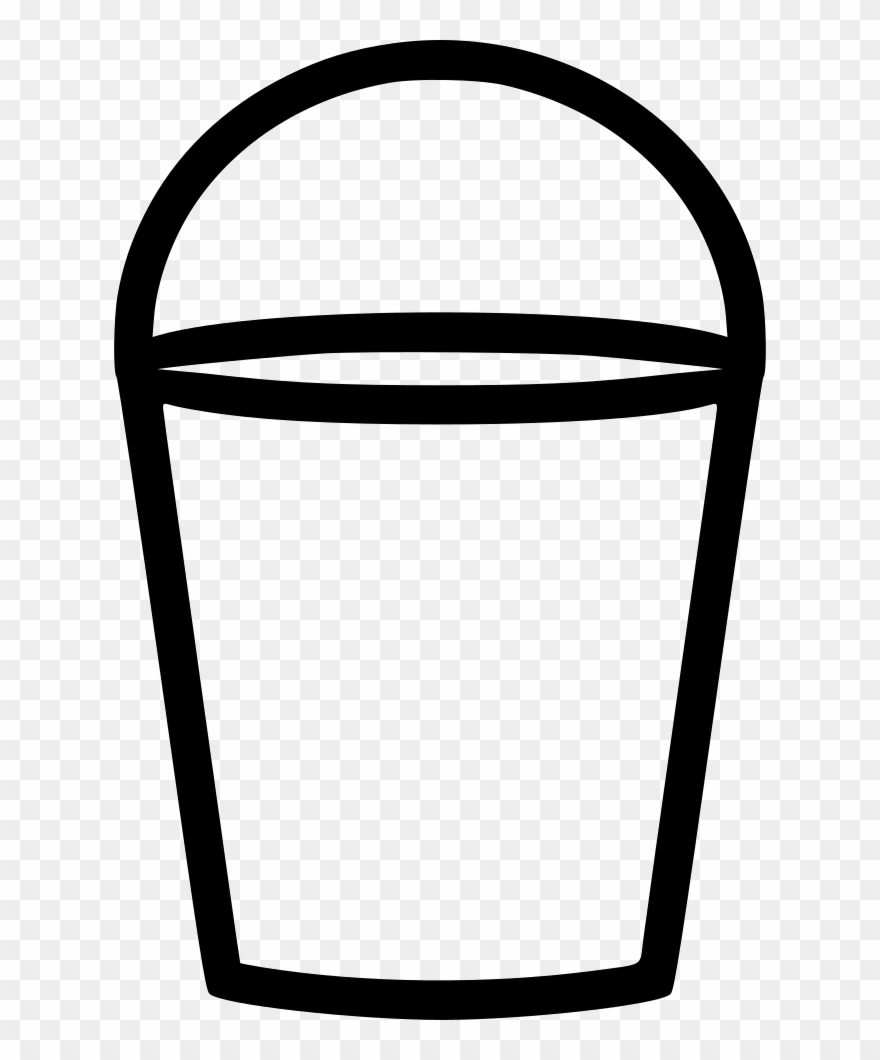 Water bucket clipart black and white picture transparent library Water Bucket Comments - Water Bucket Svg Clipart (#1663233 ... picture transparent library
