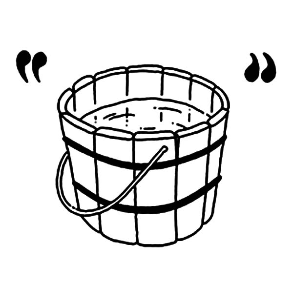 Wooden bucket pouring water clipart image black and white library Free Water Pale Cliparts, Download Free Clip Art, Free Clip ... image black and white library
