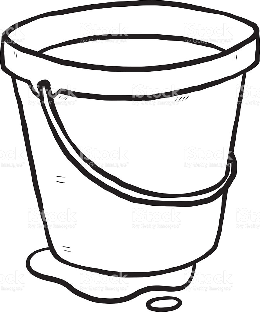 Water bucket clipart black and white vector royalty free library Bucket Clipart Black And White   Free download best Bucket ... vector royalty free library