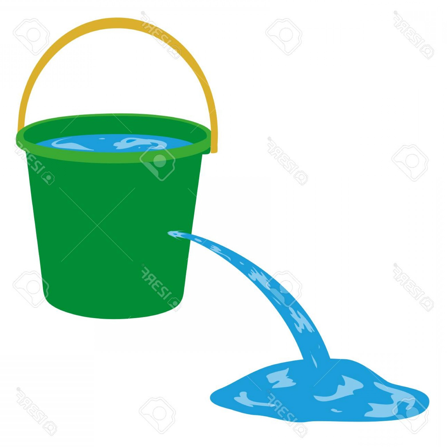 Water pouring out clipart banner royalty free stock Photostock Vector Water Is Poured Out Of A Hole In A Bucket ... banner royalty free stock